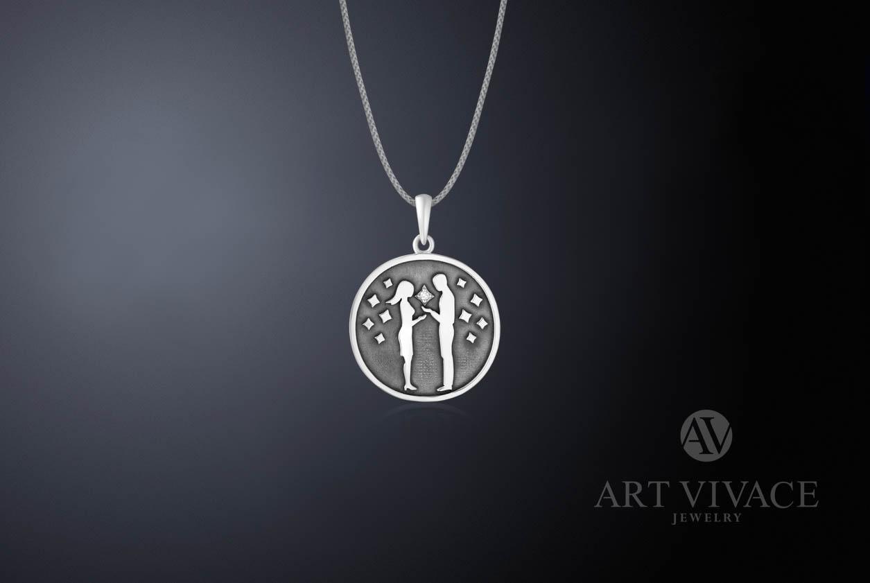 Кулон «Viva la vita» в серебре (малый)