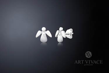 BE MY ANGEL/СЕРЕБРО с белым топазом